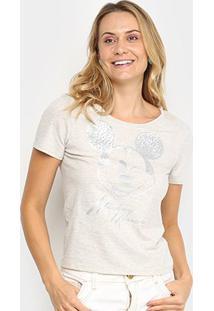 Blusa Cativa Disney Mickey Mouse Feminina - Feminino-Mescla Claro