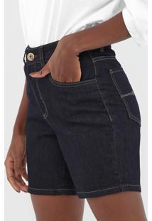 Bermuda Jeans Malwee Pespontos Azul