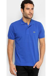 ... Camisa Polo Lacoste Piquet Original Masculina - Masculino-Azul Royal 676887a889