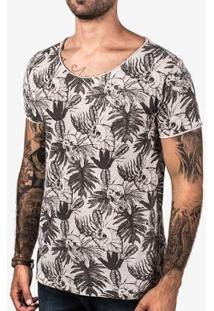 Camiseta Hermoso Compade Skull Masculina - Masculino-Cinza