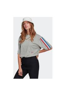 Camiseta Adicolor Tricolor Oversize