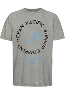 Camiseta Ocean Pacific Surfboards Quality Masculina - Masculino-Cinza