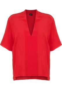 Osklen Blusa Classy De Seda - Vermelho
