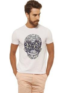 Camiseta Masculina Joss - Caveira Olhos - Masculino-Branco