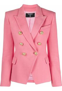Balmain Double-Breasted Tailored Blazer - Rosa