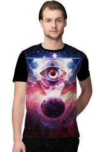 Camiseta Stompy Psicodelica24 Masculina - Masculino-Preto