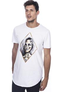 Camiseta Long Island Gold Masculina - Masculino-Branco