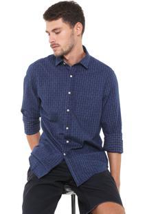 Camisa Richards Reta Xadrez Azul-Marinho