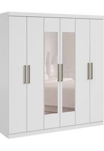 Guarda-Roupa Casal Com Espelho Jazz 6 Pt 3 Gv Branco