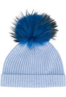 N.Peal Gorro Com Pompom Removível - Azul