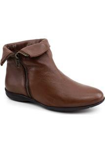 Bota Ankle Boot Aymee 024 Feminina - Feminino-Marrom