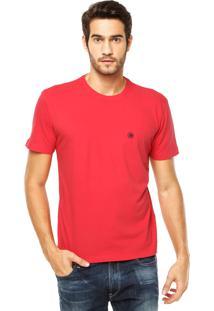 Camiseta Mandi Bordado Vermelha