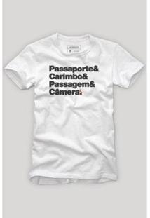 Camiseta Reserva Itens Viajante Masculina - Masculino-Branco