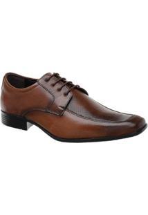 Sapato Social Malbork Couro Solado Borracha - Masculino-Marrom