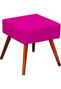 Puff Banqueta Decorativa Com Pés Palito Lívia Suede Pink - Lymdecor