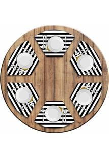 Jogo Americano Love Decor Para Mesa Redonda Wevans Love Kit Com 6 Pçs - Kanui