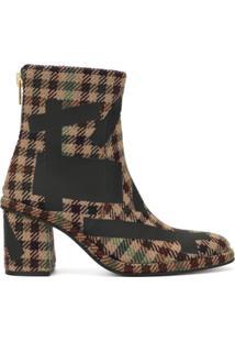 Kolor Ankle Boot Xadrez - Marrom