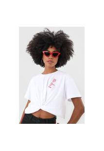 Camiseta Coca-Cola Jeans Lettering Torção Branca