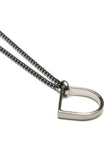 Colar Key Design Ringo Silver - Ônix