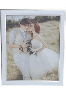 Porta Retrato White 10X15 - Prestige - Cinza