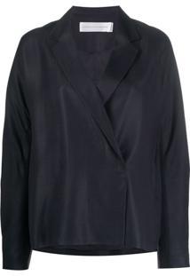 Victoria Victoria Beckham Blazer Com Abotoamento Duplo - Azul