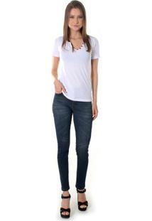 Calça Jeans Opera Rock Leg Max Azul Escuro
