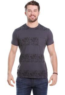 Camiseta Javali Chumbo Listra Caveira