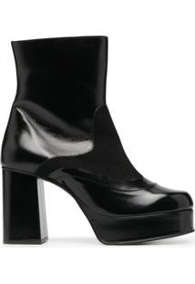 See By Chloé Ankle Boot Com Plataforma - Preto