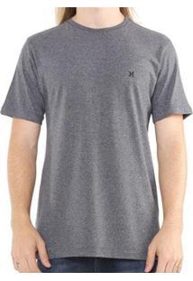 Camiseta Hurley Silk Incon Masculina - Masculino-Cinza