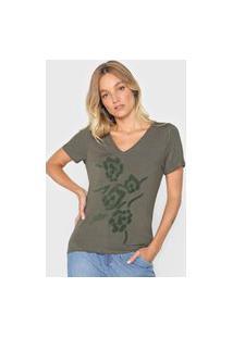Camiseta Mob Estampada Verde