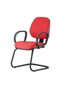 Cadeira Corporate Executiva Cor Vermelho Com Base Skim - 43943 Vermelho