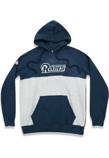 Casaco Moletom Los Angeles Rams Color Block Nfl - New Era - Masculino