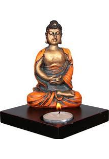Porta-Vela Buda Em Resina