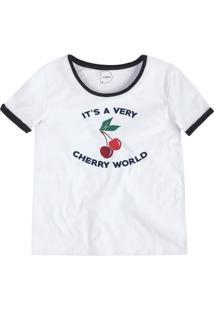 T-Shirt Em Malha De Algodão Com Estampa