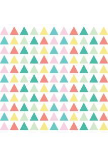 Adesivo De Parede Triângulos Coloridos 121Un