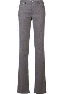 Redvalentino Slim Bootleg Trousers - Cinza