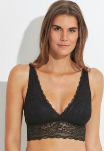 Top Longo De Renda Preto By Hope