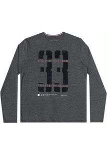 Camiseta Malha Mouline Flame Preto Reativo