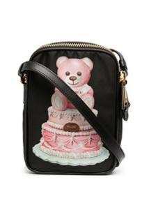 Moschino Bolsa Transversal Cake Teddy Bear - Preto
