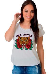 Camiseta Shop225 Wild Things Branco - Branco - Feminino - Dafiti