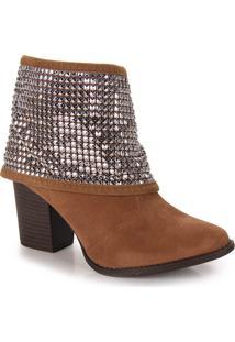 Ankle Boots Feminina Beira Rio - Caramelo