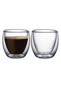 Conjunto De Xícaras Para Café Em Vidro Tramontina 2 Peças Tramontina