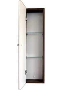 Armário Lateral Para Banheiro 73X20Cm Branco E Ébano