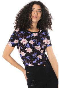 Camiseta Billabong All Flowers Preta