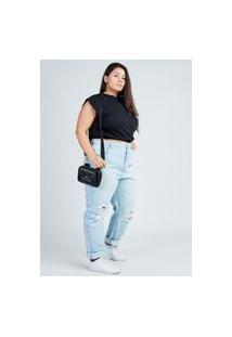 Calça Mom Jeans Blue Claro Gang Plus Size Feminina