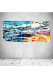 Quadro Decorativo - Abstract002 - Composto De 5 Quadros - Multicolorido - Dafiti