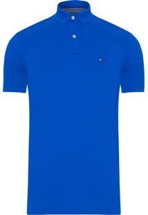Polo Masculina Regular - Azul