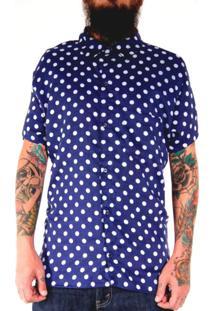 Camisa Andy Roll Estampada Poa Rocker