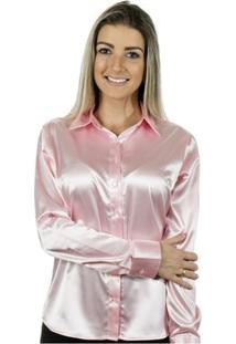 Camisa Pimenta Rosada Lola - Feminino-Rosa Claro