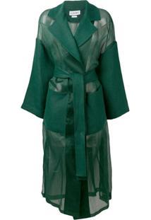 Loewe Casaco Oversized Com Cinto - Verde
